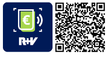 QR-Code für die App R+V-Restkredit
